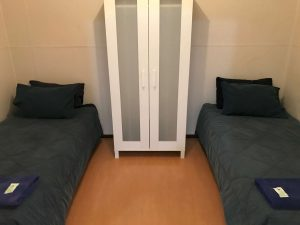 Family Shared Bathroom twin beds